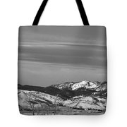 Full Moon On The Co Front Range Bw Tote Bag