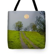 Full Moon On The Rise Tote Bag