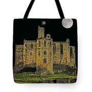 Full Moon Over Medieval Ruins Tote Bag