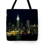 Full Moon Rising - New York City Tote Bag