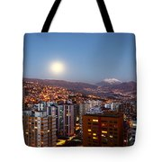 Full Moon Rising Over La Paz Tote Bag