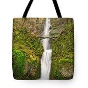Full View Of Multnomah Falls In The Columbia River Gorge Of Oregon Tote Bag