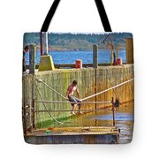 Fun At The Ferry Dock On Brier Island In Digby Neck-ns Tote Bag