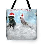 Fun Merry Christmas Card Tote Bag