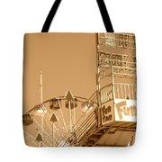 Fun Slide Sepia Tote Bag