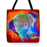 Funky Baby Elephant Blue Tote Bag