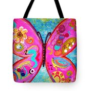 Funky Butterfly Tote Bag
