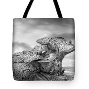 Funky Fungi Black And White Tote Bag