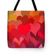 Funky Hearts Tote Bag
