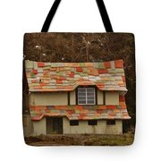 Funky House On 17 Mile Drive Tote Bag