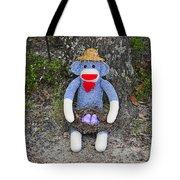 Funky Monkey - Purple Peeps Tote Bag