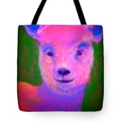 Funky Pinky Lamb Art Print Tote Bag