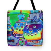 Funky Snowman Holiday  Tote Bag