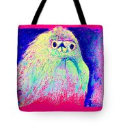 Funky Snowy Egret Bird Art Prints Tote Bag