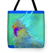 Funky Sulphur Crested Cockatoo Bird Art Prints Tote Bag