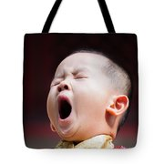 Funny Chinese Child Yawning Tote Bag