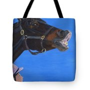 Funny Face - Horse And Child Tote Bag