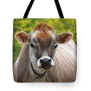 Funny Jersey Cow -square Tote Bag