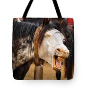 Funny Looking Horse Tote Bag