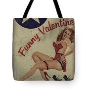 Funny Valentine Noseart Tote Bag