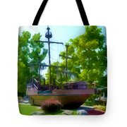 Funplex Funpark Boat 3 Tote Bag by Lanjee Chee