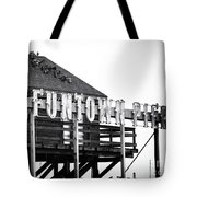 Funtown Pier Tote Bag by John Rizzuto