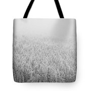 Fur Trees In The Snow Tote Bag