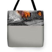 Furious Fire Tote Bag