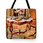 Furniture - Chair - The Tea Party Tote Bag by Mike Savad
