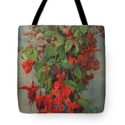 Fushia And Snapdragon In A Vase Tote Bag