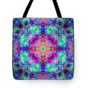 Fushia Rainbow Mandala Tote Bag