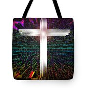 Futuristic Cross Pattern Tote Bag