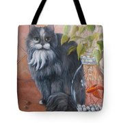 Fuzz And Homer Tote Bag