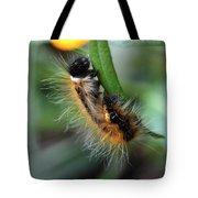 Fuzzy Caterpillar Tote Bag