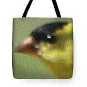 Fuzzy Gold Finch Tote Bag