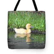 Fuzzy Little Yellow Duck Tote Bag