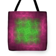 Fuzzy Skwares Tote Bag