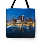 Fx2l472 Columbus Ohio Night Skyline Photo Tote Bag