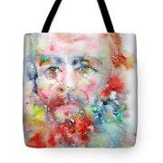 Fyodor Dostoyevsky - Watercolor Portrait.4 Tote Bag
