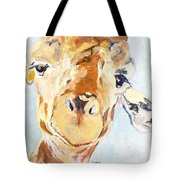 G A Giraffe Tote Bag