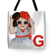 G Art Alphabet For Kids Room Tote Bag