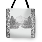 Mountain Walk Border Tote Bag