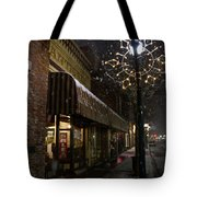 G Street Antique Store In The Snow Tote Bag