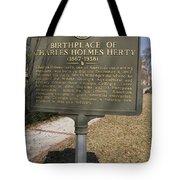 Ga-005-10 Birthplace Of Charles Holmes Herty 1867-1938 Tote Bag