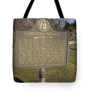 Ga-005-28 Cemetery Square Tote Bag