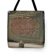 Ga-108-2 Birthplace Of Bishop A. G. Haygood And Miss Laura A. Haygood Tote Bag