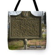 Ga-97-1 Madison County Tote Bag