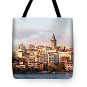 Galata Skyline 01 Tote Bag by Rick Piper Photography