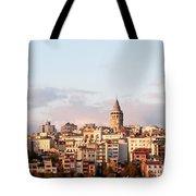 Galata Skyline 02 Tote Bag