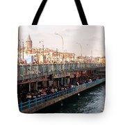 Galata Skyline And Bridge 02 Tote Bag